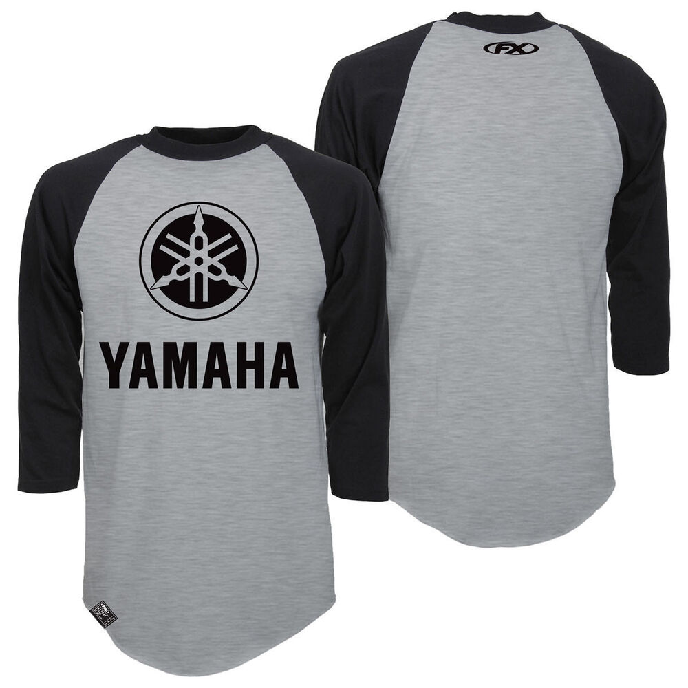 factory effex yamaha tuning fork baseball t shirt adult. Black Bedroom Furniture Sets. Home Design Ideas
