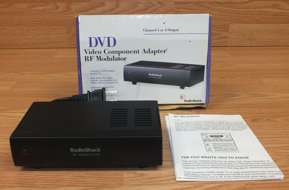radio shack 15 1214 dvd video component adapter wired rf modulator rh ebay com radio shack rf modulator instructions Radio Shack RF Modulator 15 2526 Power On