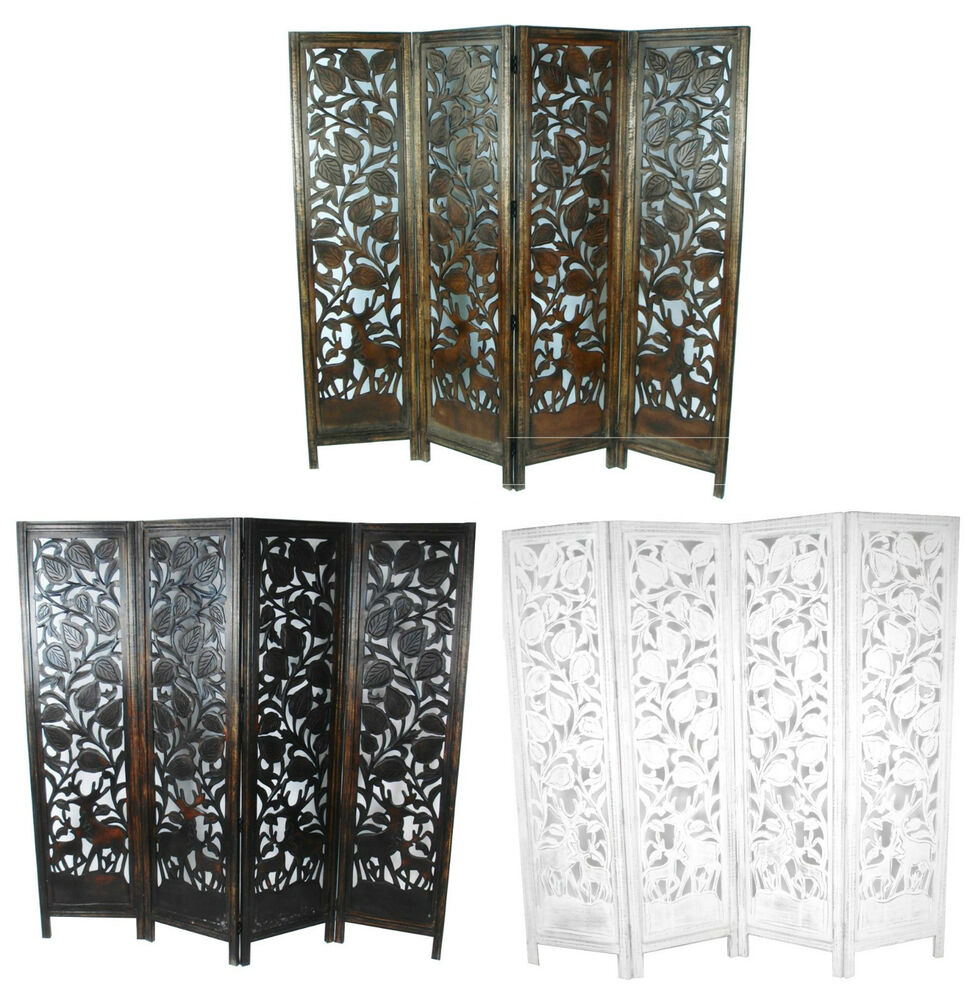 duty indian stag deer wooden screen room divider 176x184cm ebay