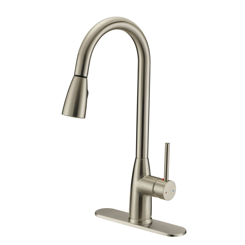 kitchen faucet with pull out sprayer designers impressions satin nickel kitchen faucet with 27067