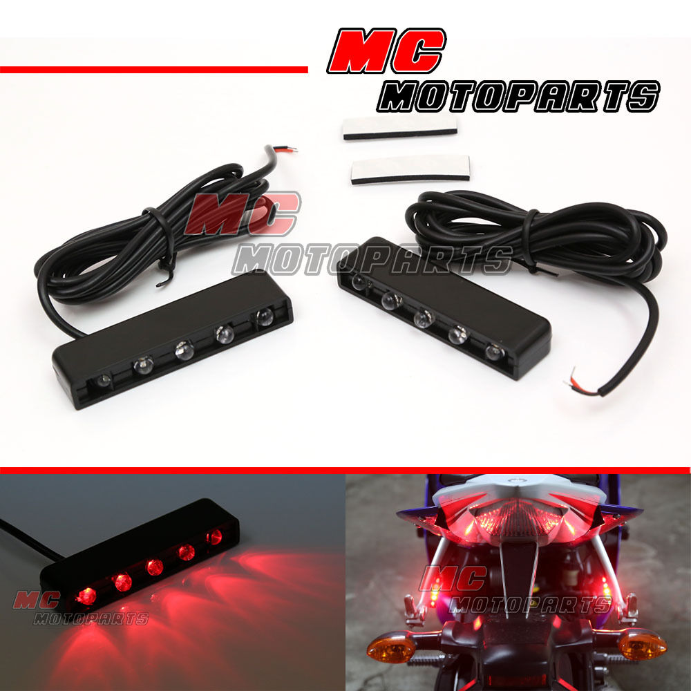 Flush Mount Red LED Tail Braking Lights for Honda CBR600RR CBR1000RR ...