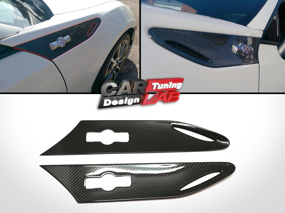 Carbon Fiber Side Fender Grille Grill Air Vents Cover For