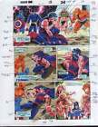 Marvel Comics color guide art 15 page 17: Avengers/Captain America/X-Men Cyclops