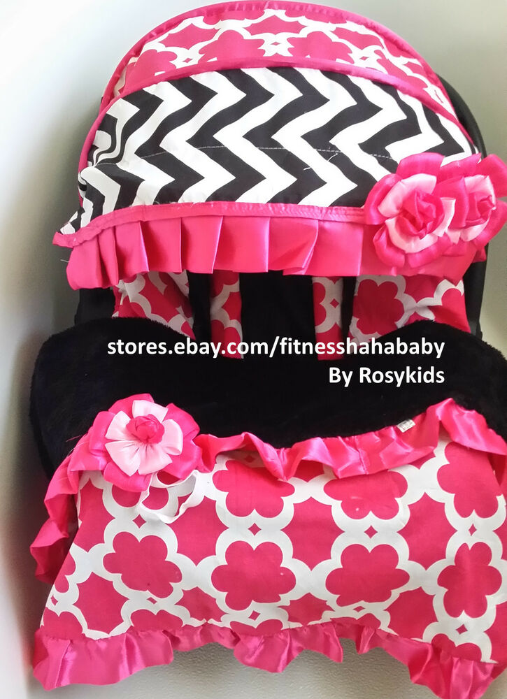 baby car seat cover canopy covers blanket slip covers fit most infant carseat ebay. Black Bedroom Furniture Sets. Home Design Ideas