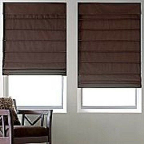 New with defects savannah roman shade blind fabric fold for Roman shades for large windows