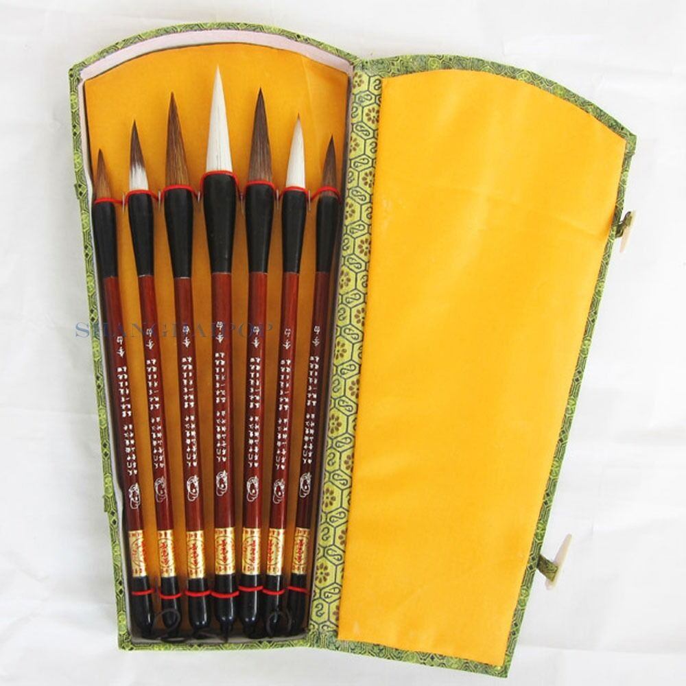 Set of 7 brush pen for chinese calligraphy writing art Chinese calligraphy brush