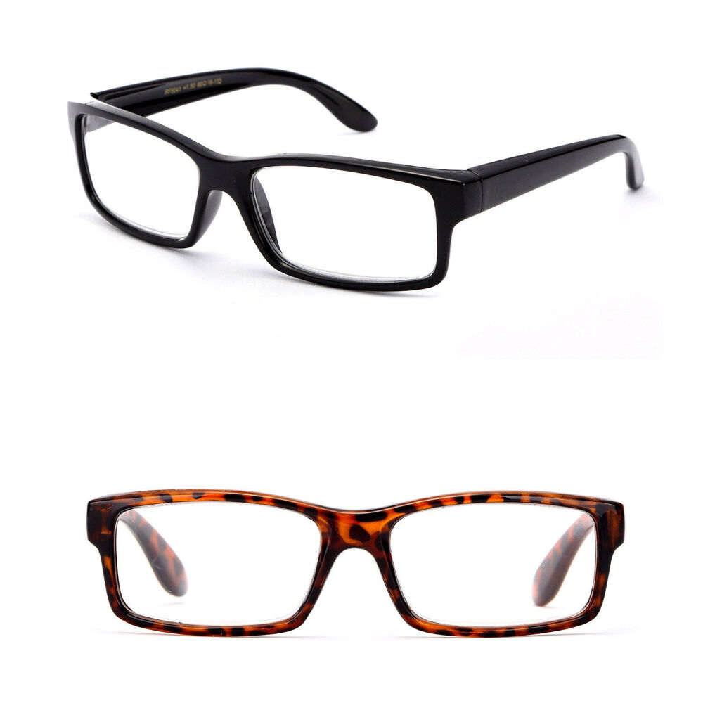 thick bold frame reading glasses quality structure black