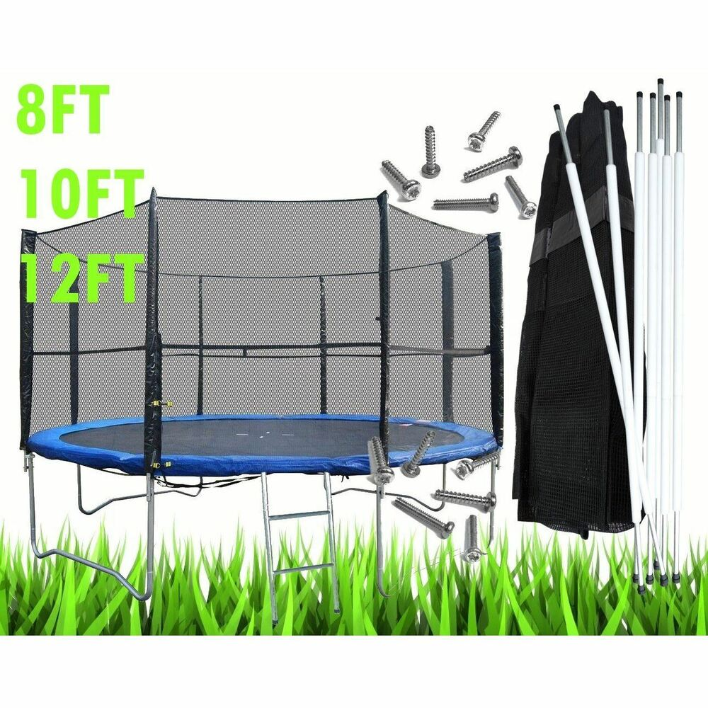 8 10 12 14FT Replacement Trampoline Safety Net Surround