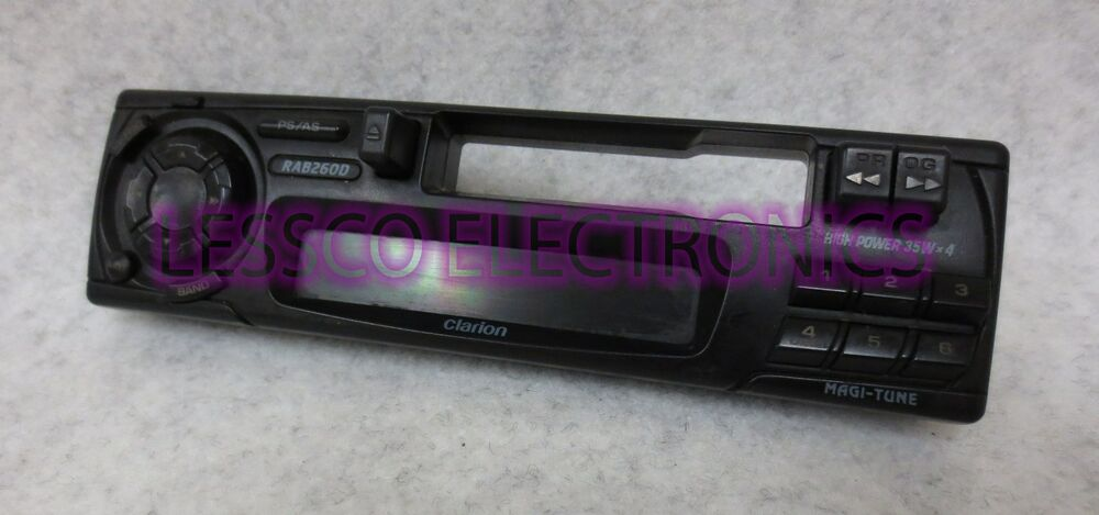Clarion Car Stereo: CLARION RAB260D Replacement Car Stereo Face Plate