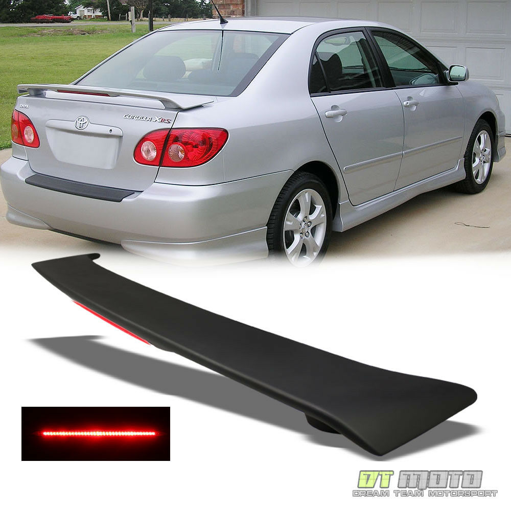 For Matte Blk 2003 08 Toyota Corolla Ce Le S Rear Trunk