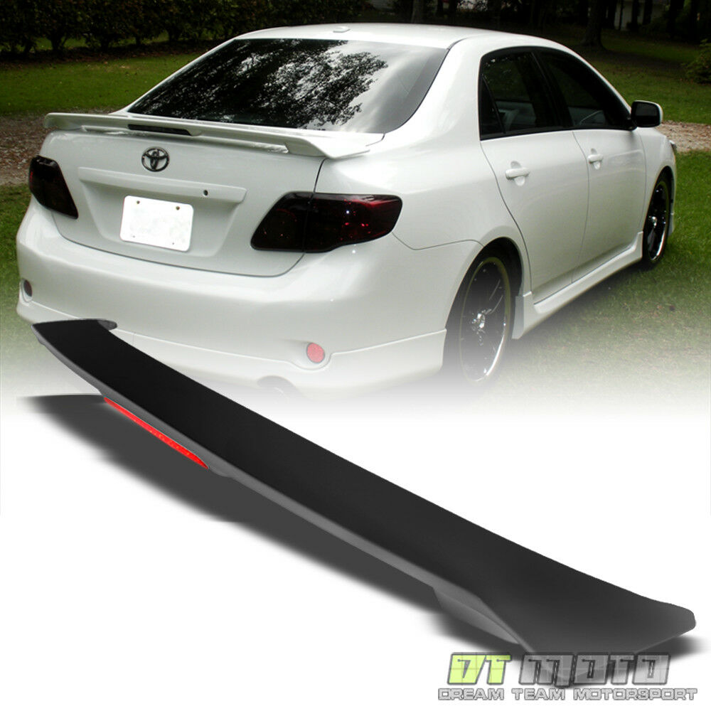 09 13 toyota corolla s le xle xrs rear trunk abs spoiler. Black Bedroom Furniture Sets. Home Design Ideas