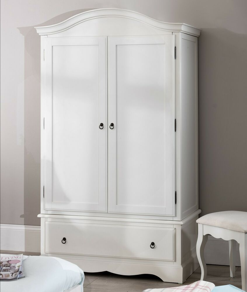 ROMANCE Double Wardrobe, Stunning white wardrobe with deep ...