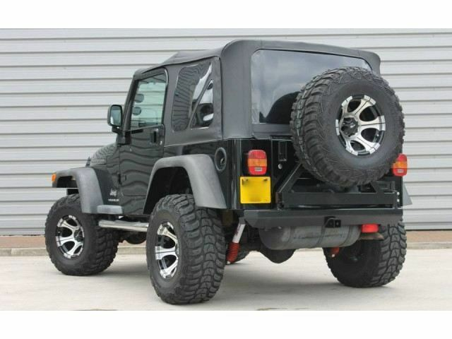1997 2006 jeep wrangler tj replacement black soft top and rear tinted windows ebay. Black Bedroom Furniture Sets. Home Design Ideas