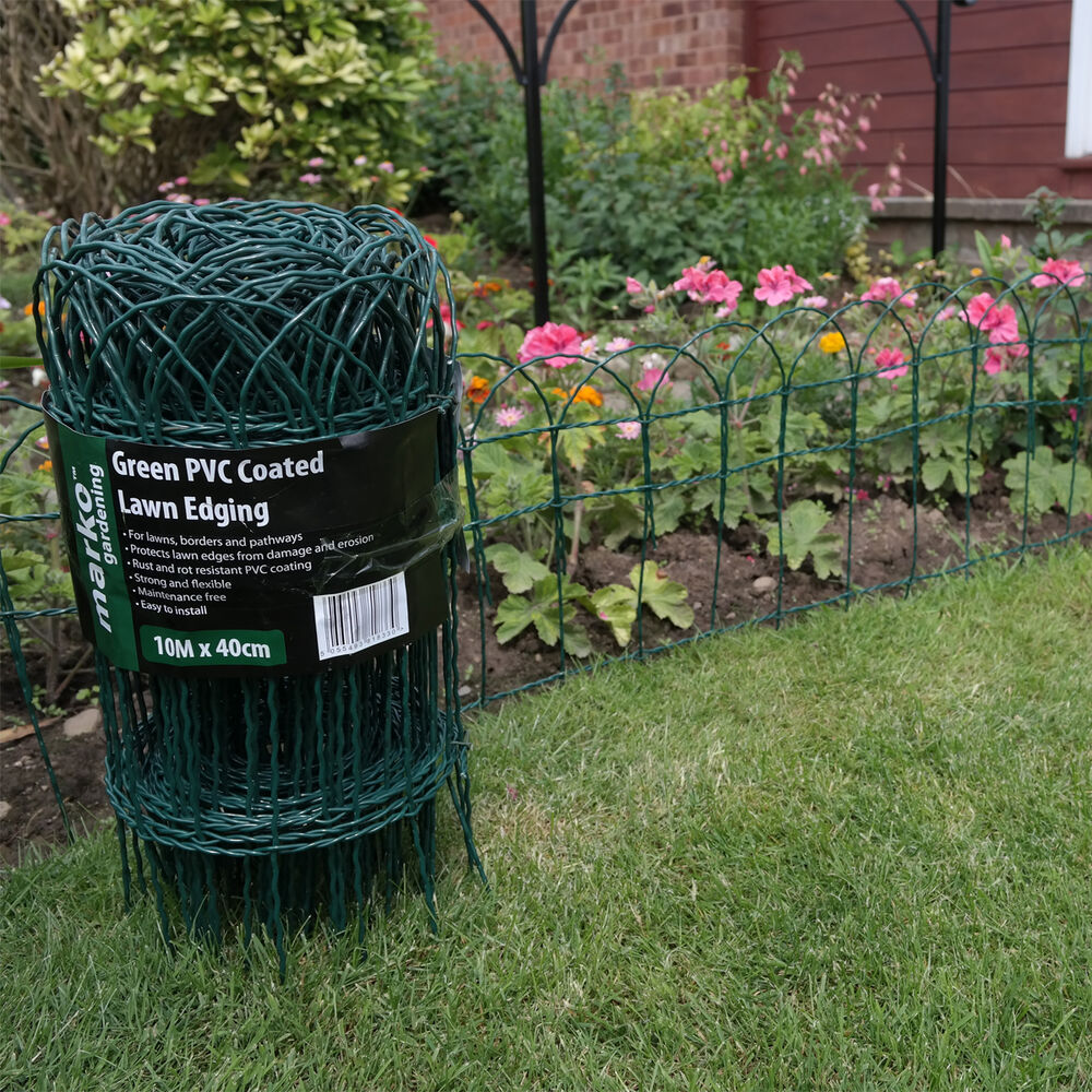 Garden Border Fence Green Pvc Coated Lawn Edging Wire Mesh