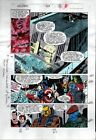 1990's Avengers 329 Marvel color guide art page 16:Thor/Captain America/She-Hulk