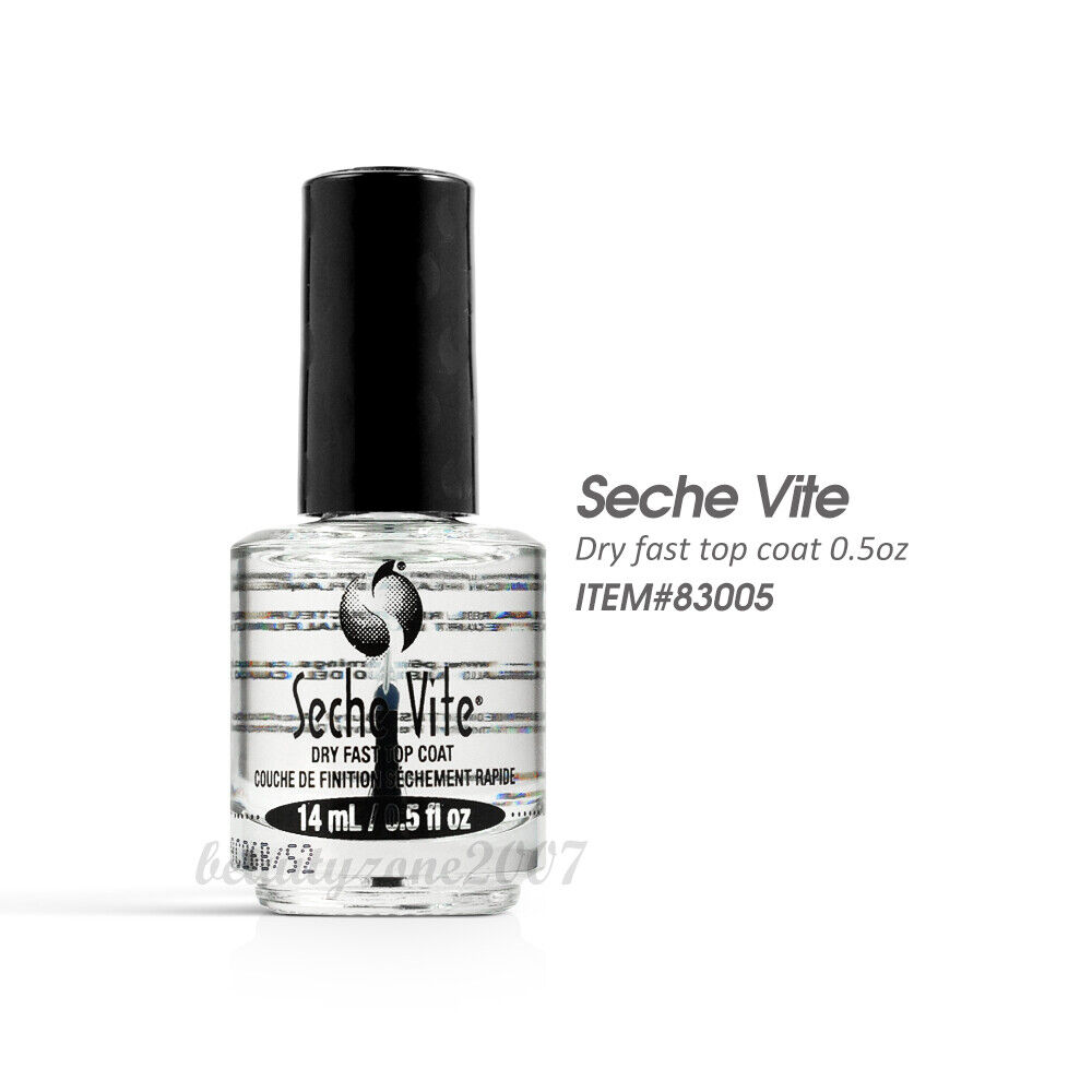 seche vite dry fast top coat nail polish lacquer 0 5 oz 15ml ebay. Black Bedroom Furniture Sets. Home Design Ideas