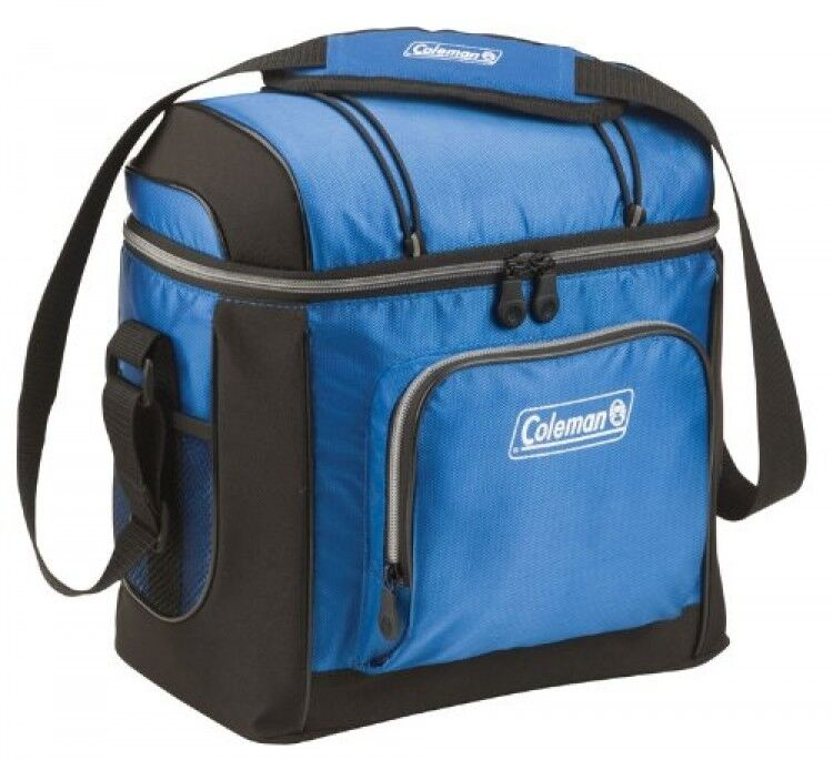 Coleman 16 Can Soft Cooler With Hard Liner Blue Drink
