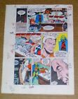 1986 DC Comics JLA 260 pg 29 original color guide art: Justice League of America