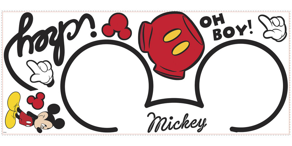 Disney All About MICKEY MOUSE Clubhouse decor wall sticker ...