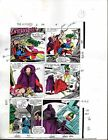 Original 1988 Thor vs She-Hulk Avengers 296 Marvel Comic color guide art:Buscema