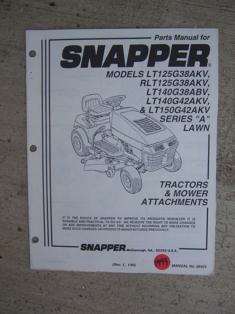 gravely mower schematics 1994 snapper lawn tractor mower attachments parts manual ...
