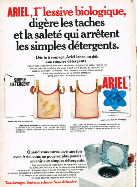 Q Publicité Advertising 1969 La Lessive Genie Breweriana, Beer