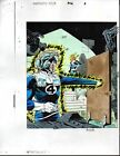 Original 1992 Fantastic Four 362 Marvel comic book color guide art splash page 1