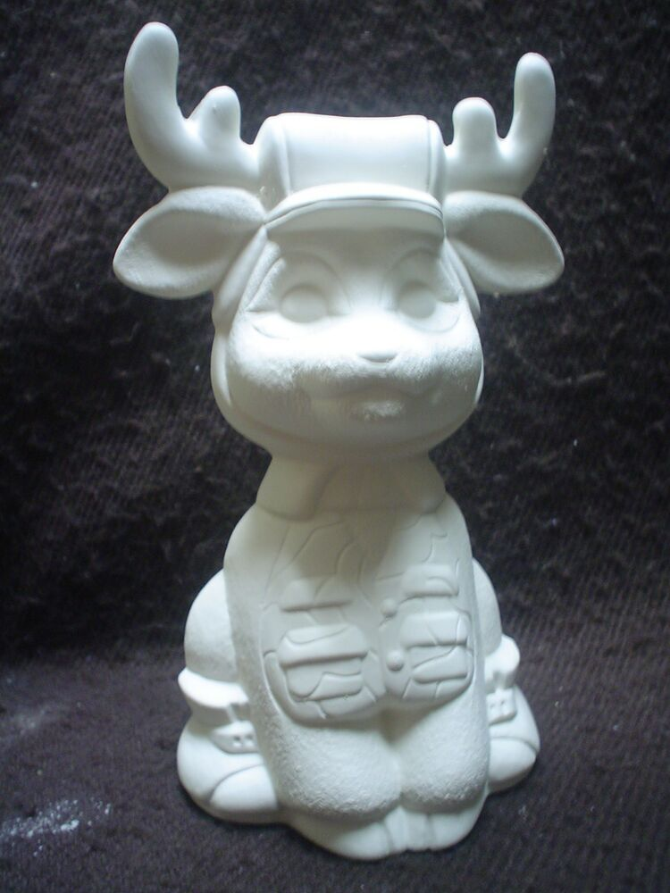 C414 ceramic bisque 6 1 2 hunter deer ready to paint for How to make ceramic painting