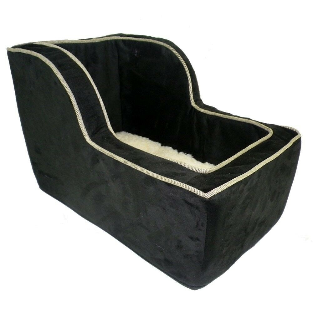 snoozer large high back suv console pet dog car booster seats black herringbone ebay. Black Bedroom Furniture Sets. Home Design Ideas