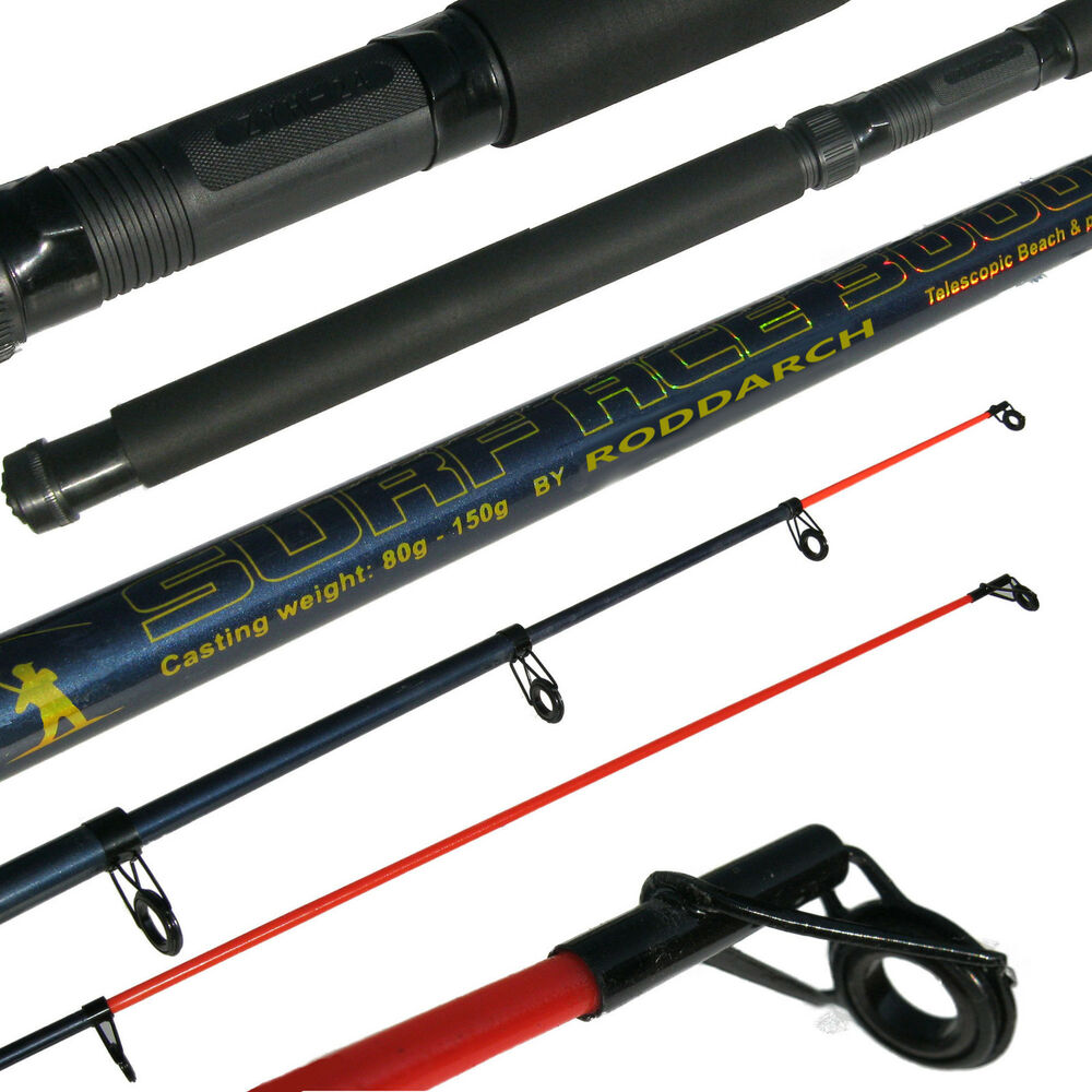 10 39 telescopic sea fishing rod beachcaster pier fishing for Best telescoping fishing rod