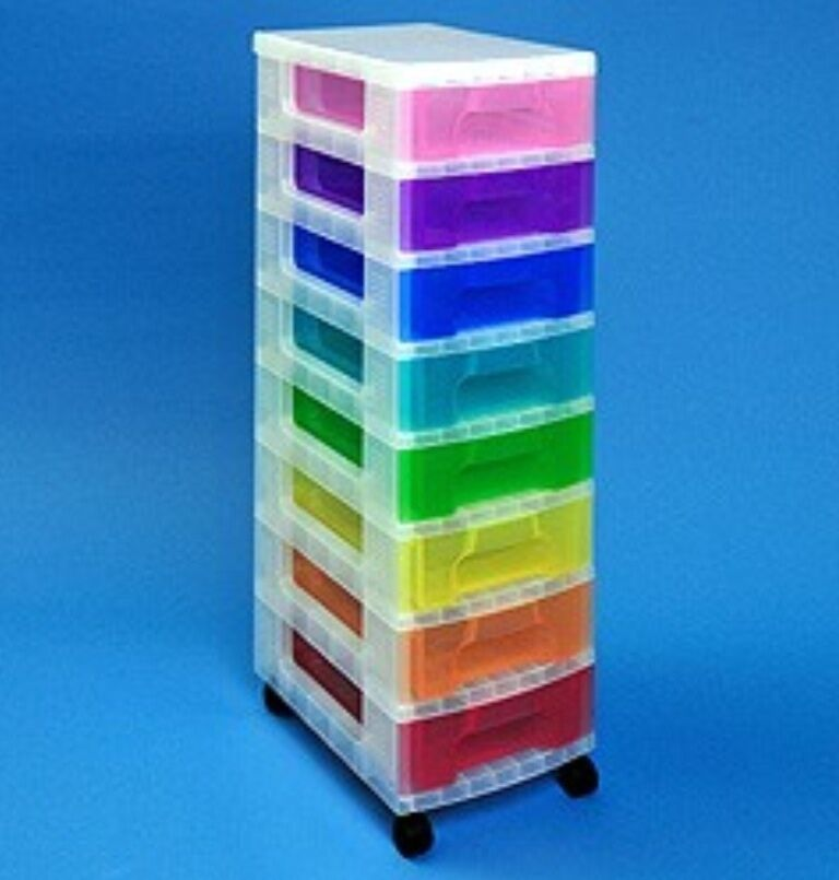 Really Useful Storage Boxes 8 X 7 Litre Clear Tower