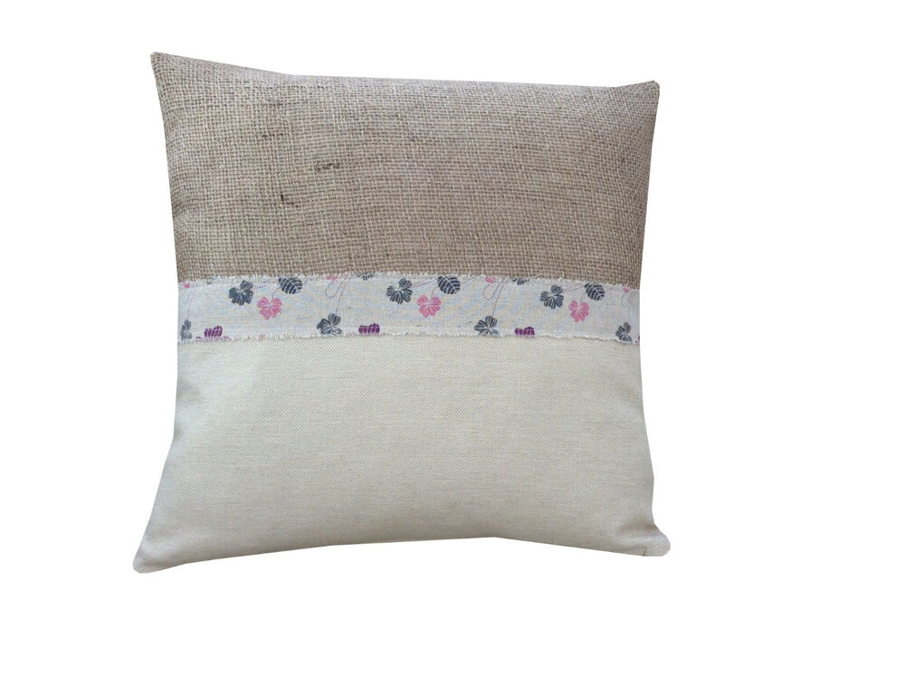 Country Style Cushion Cover Made From Butterfly Flowers
