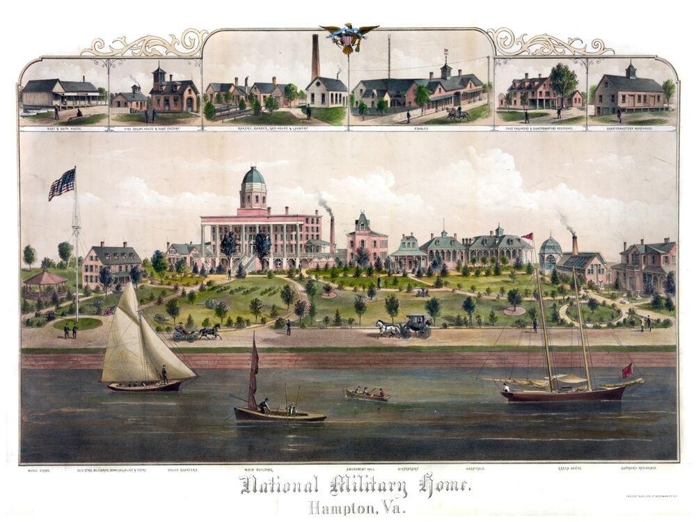 4468National Military homehampton VAboatsriverPOSTER