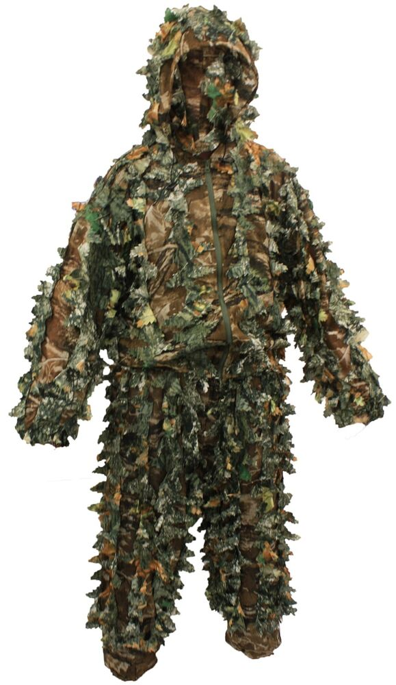 Kit da caccia Woodland Sniper Ghillie Suit Kit 3D Leaf Camouflage Camo Jungle bu