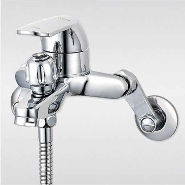 wall mounted bath tub faucet chrome finish with handheld shower head