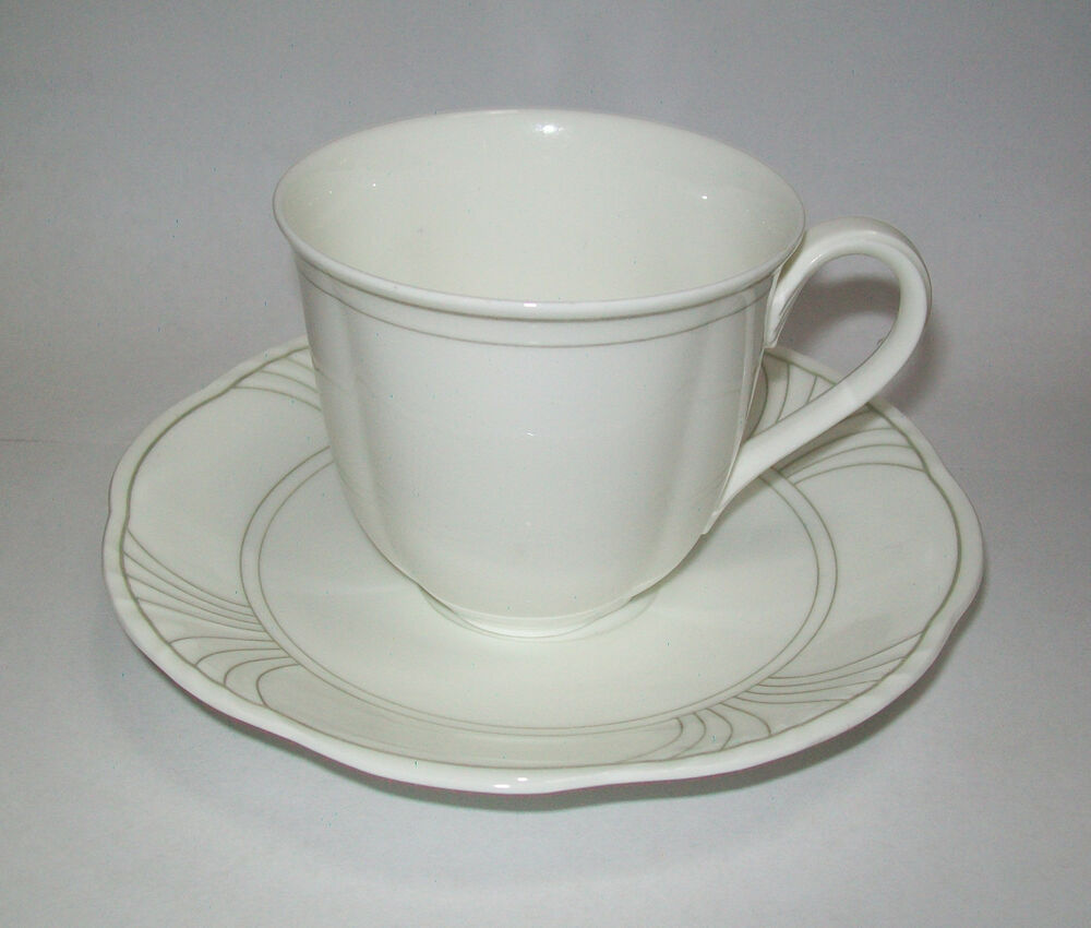 villeroy boch piano cup saucer set ebay. Black Bedroom Furniture Sets. Home Design Ideas