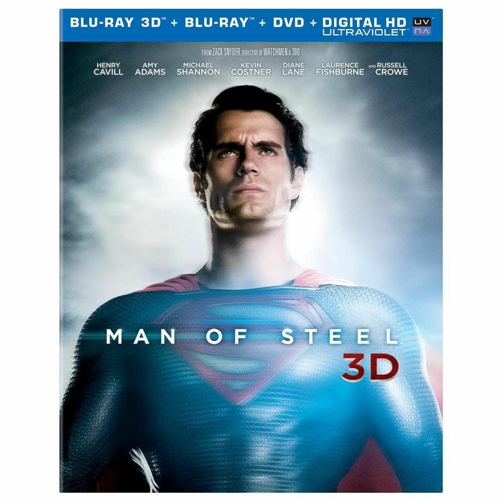 man of steel blu ray 3d blu ray dvd new with slipcover superman superhero 883929246922 ebay. Black Bedroom Furniture Sets. Home Design Ideas