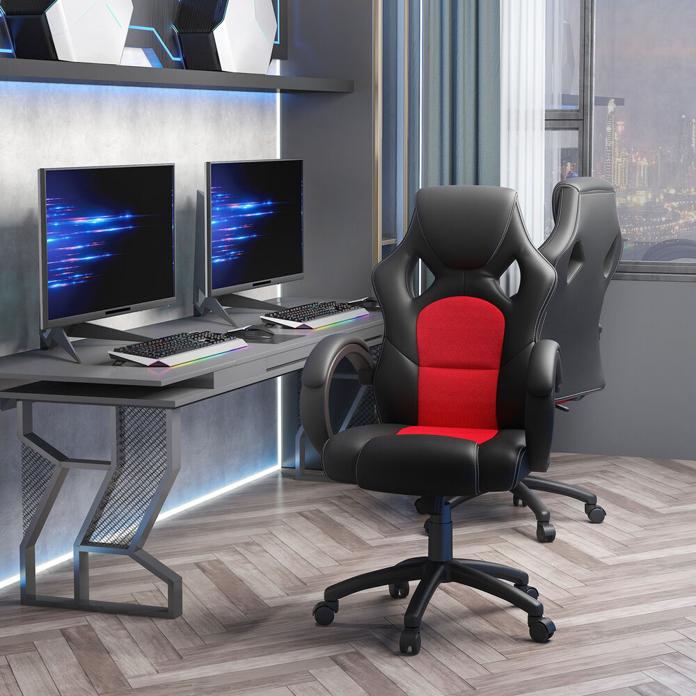 racing gaming swivel office computer chair pu leather