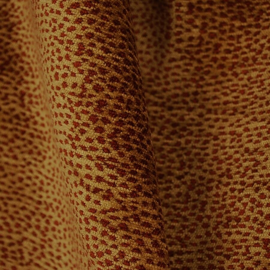 Red leopard print fabric