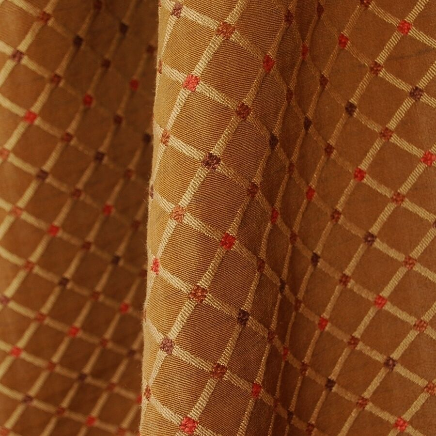 Diamond Trellis Woven Bronze Upholstery Fabric Ebay