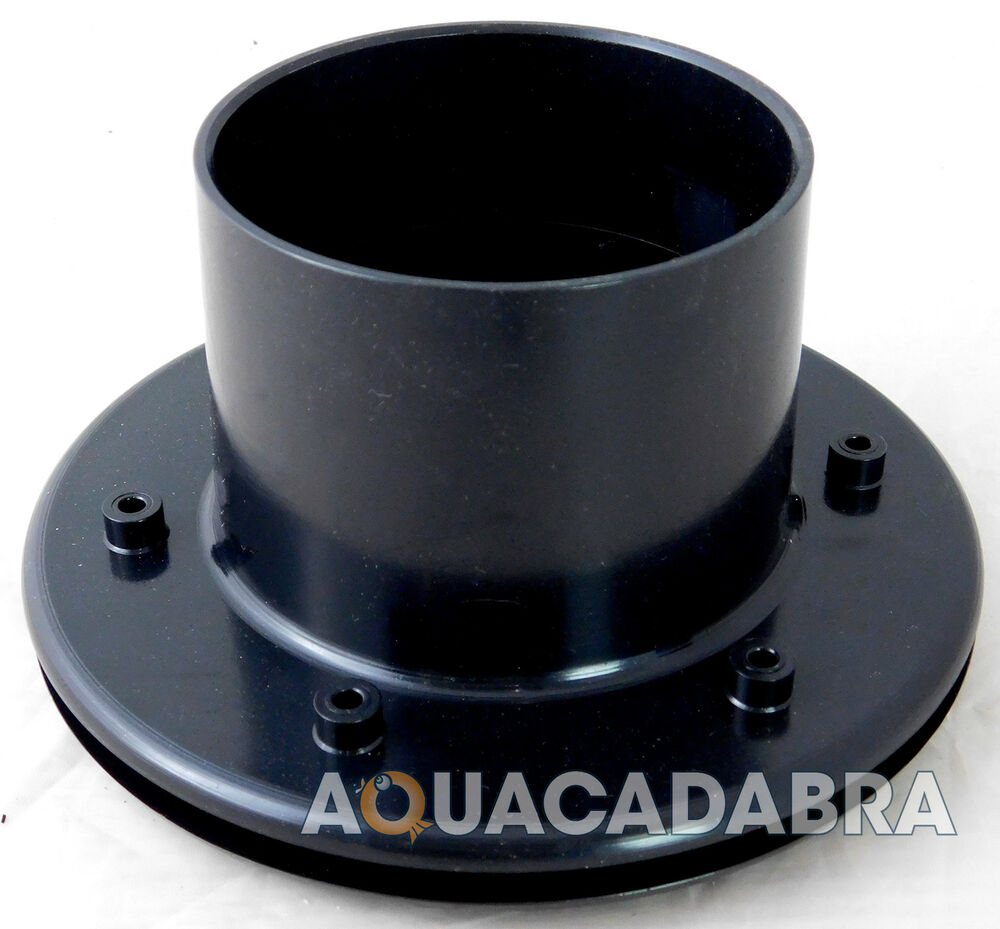 Solvent weld 3 inch flanged tank liner connector koi pond for Pond filter pipe