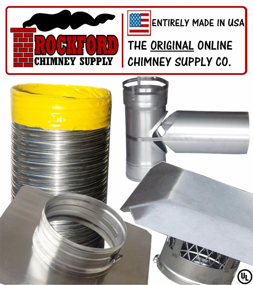 6 In X 25 Ft Smooth Wall Chimney Liner Tee Kit 2ply 013