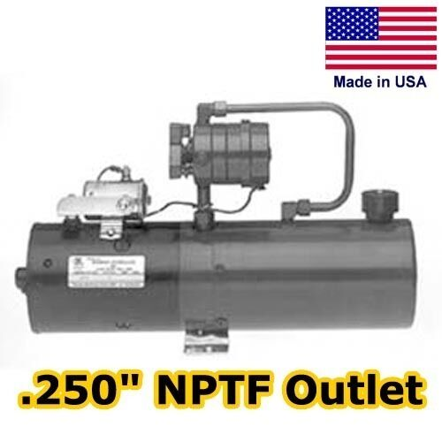 Hydraulic dc power unit 4 way release valve 1 gal for Hydraulic pump motor units