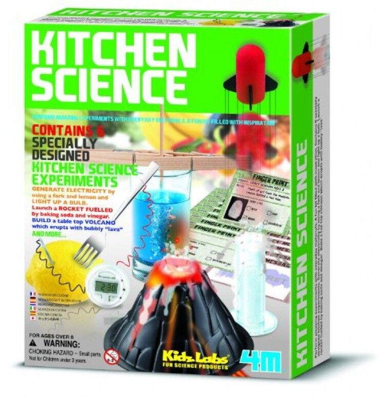 4m Kitchen Science Kit Educational Toy 6 Experiments