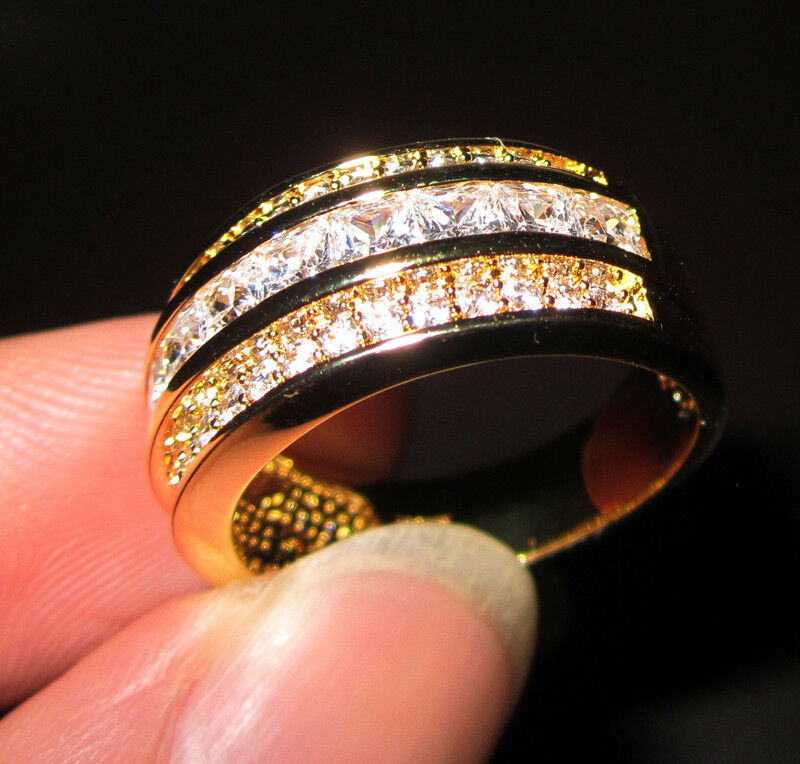 Size 8 12 Mens Deluxe Jewelry 10kt Yellow Gold Filled