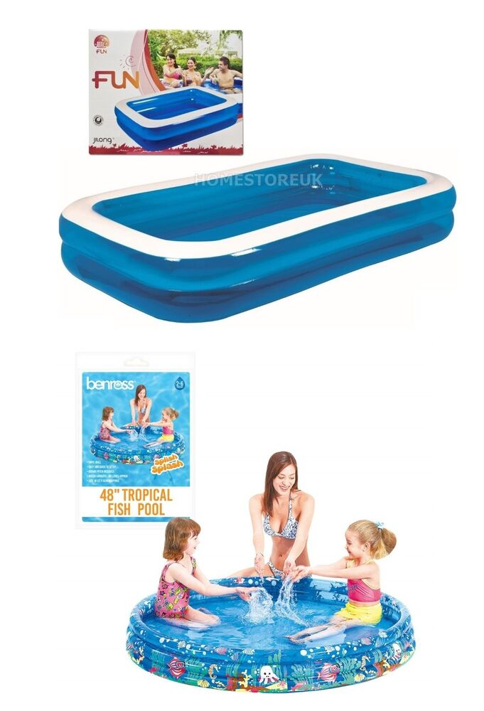 Inflatable water swimming paddling pool for family for Garden inflatable swimming pool