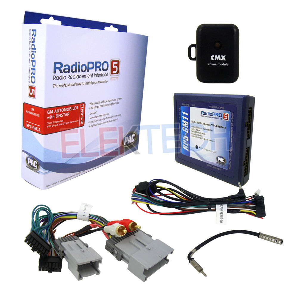 Rp5 Gm11 Radio Replacement Steering Wheel Control Interface For Gm Wiring Diagram Chime With Onstar 606523109345 Ebay
