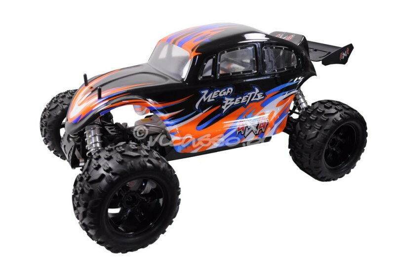 rc monster buggy 4wd nutech mega beetle 1 5 26ccm verbrenner benziner ebay. Black Bedroom Furniture Sets. Home Design Ideas