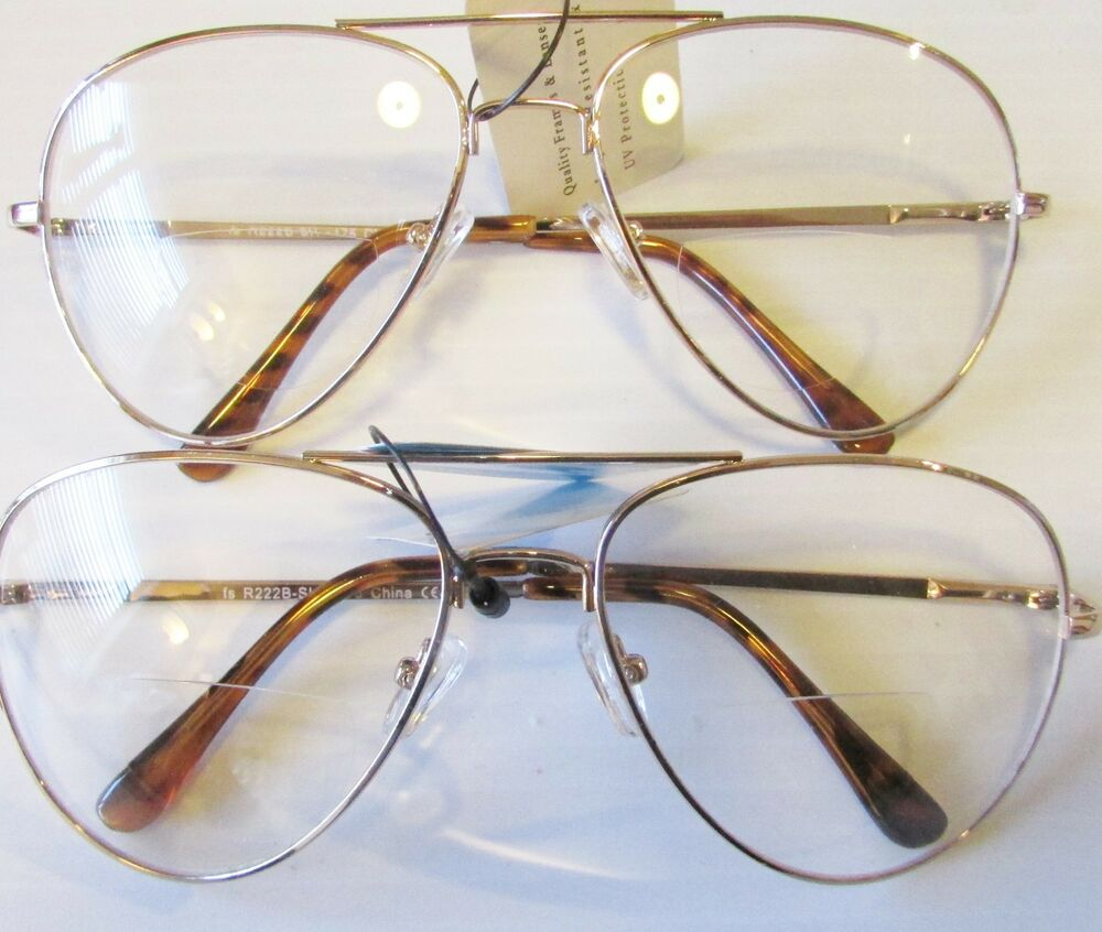 Gold Frame Reading Glasses : 4 Aviator READING GLASSES CLASSIC STYLE READER gold tone ...