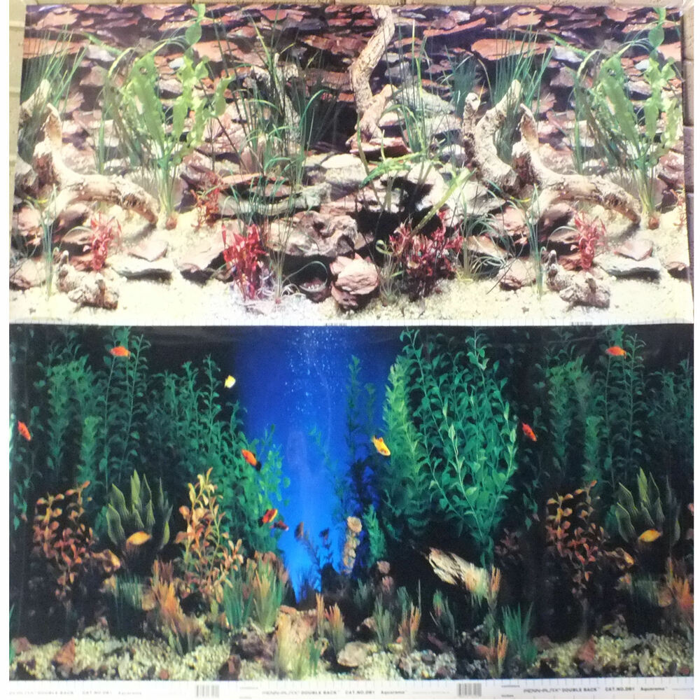 Best fish tank backgrounds ebay fish tank backgrounds for Fish tanks for sale ebay